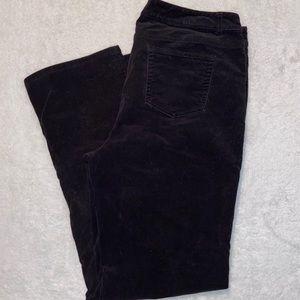 Charter Club Black Corduroy Pants Size 12